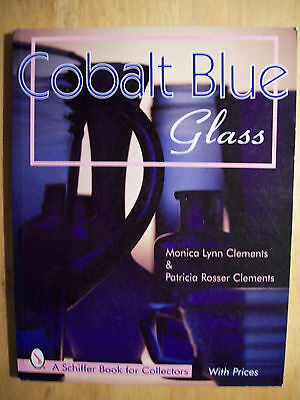 COBALT BLUE GLASS PRICE GUIDE COLLECTOR'S BOOK Vases bottle Jars Dishes