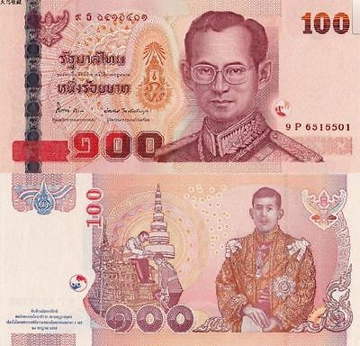 """Thailand 2012year 100 Baht """"Prince 60 years old birthday""""BrandNew Banknotes"""