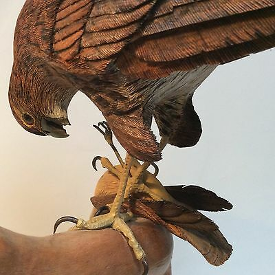 """Large One Of A Kind Hawk 30''x33"""" Hand Carved Signed And Dated James Maples"""