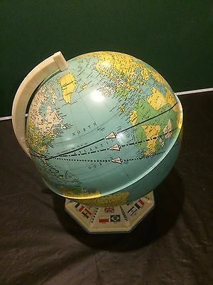 Vintage '1960's World Globe with Metal Base Stand'...Unique!
