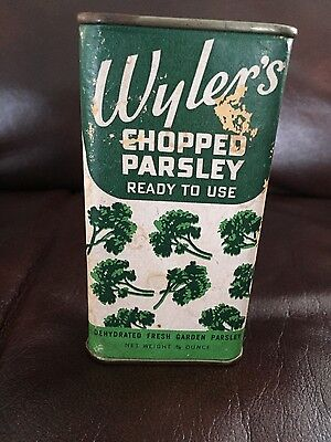 Vintage Antique Wyler's Chopped Parsley Tin