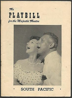 """Oringinal Playbill """"SOUTH PACIFIC"""" Rogers & Hammerstien. Opening April 7, 1949"""