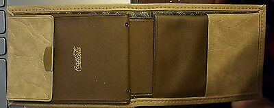 1920's -30's 40s Coca Cola Genuine Leather Wallet with gold printing NWOT