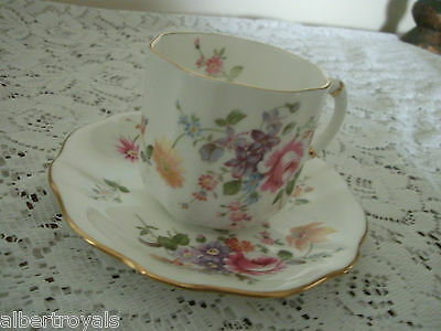 Derby Posies Cup & Saucer Set Royal Crown Derby England