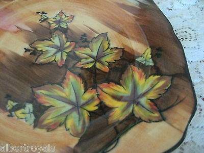 H&K Tunstall Display Plate Hand Painted Autumn Tints England