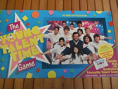 Vintage The Young Talent Time Board Game 1987 Australian TV Johnny Young