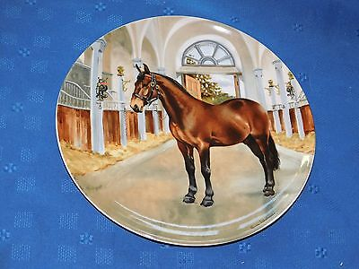 Spode Display Plate Cleveland Bay Horse Sixth in Noble Horse Collection