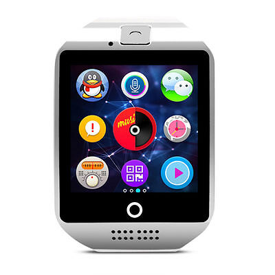 Q18 HD Bluetooth Smart Wrist Watch Phone SIM Card Camera for Android IOS Phones