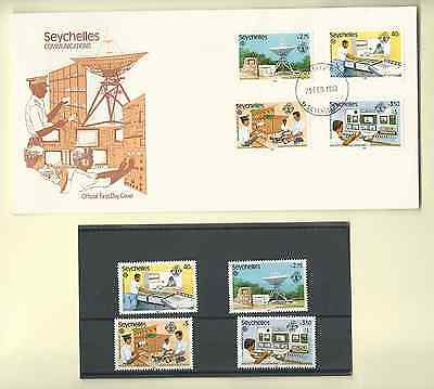 Seychelles 1983 Official Fdc & Mnh Set Sc 507-10 Communications Free Shipping