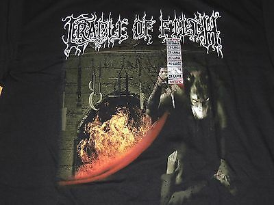 New with Tag, Cradle Of Filth T-Shirt (2XL, XXL) Black