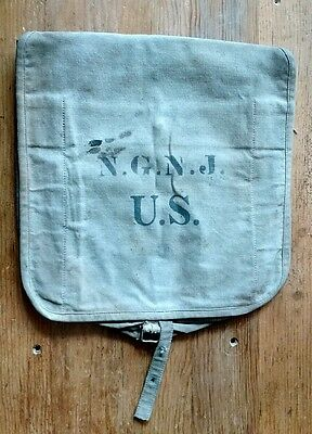 1900s WW1 New Jersey National Guard Backpack Bag Historical Museum Qty Advertise