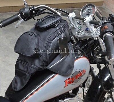 New Universal Magnetic Motorcycle Motorbike Oil Fuel Tank Bag Black