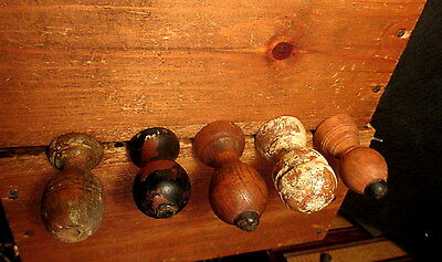 Five Vintage Wood Door Stops Victorian Door Stop Hardware