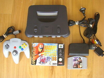 N64 Console with Games and Controller