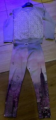 Girls Leggings & Top, M&S, Size 8 - 9 Years, GOOD USED CONDITION