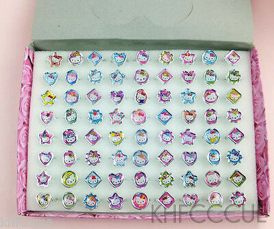 72pcs x Hello Kitty Cute Fancy Ring Box Set for Kids Party with Box Packing K206