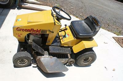 Greenfiels Ride on Mower.tools,shed,lawn,acreage,grass,yard,house,garden,garage.