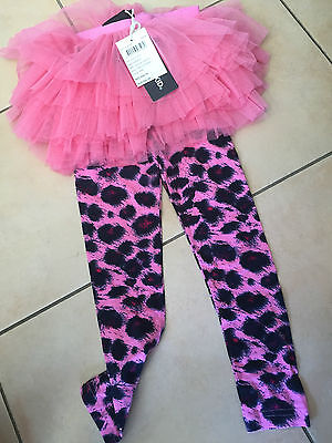 Rock Your Baby Pink Leopard    Circus Tights Sz -6