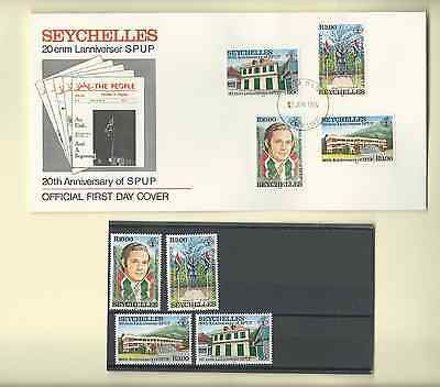 Seychelles 1984 Official Fdc & Mnh Sc 542-45 20 Anniversary Spup Free Shipping