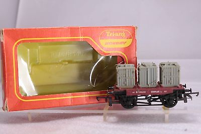 Triang HORNBY OO R.340 3 Container Flat Wagon