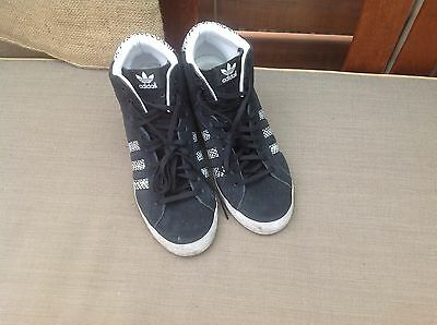 Adidas Black Wedge Sneakers Size 9.5
