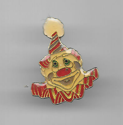 Vintage Clown with Tassel Hat and Ruffles old enamel pin