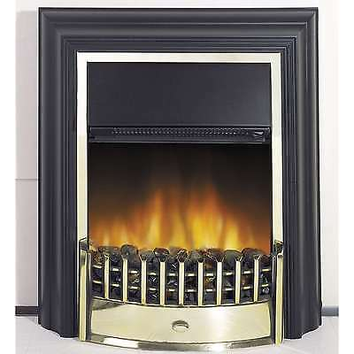 Dimplex Cheriton CHT20LE Electric Flame Effect Fire in Black With Brass Effect