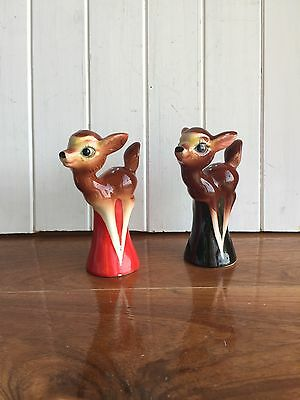 Vintage Kitsch 1950's Deer/Bambi Salt And Pepper Shakers