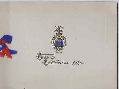 Ww1 1917 Bef Royal Army Ordnance Depot Christmas Card