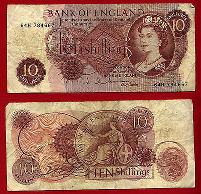 Banque d'Angleterre - Bank of England : 10 Shillings (pick# 373 c) 64H