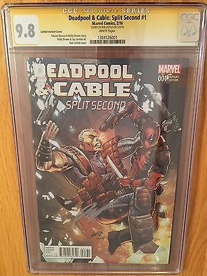 Deadpool And Cable: Split Second #1 CGC 9.8 1:25 Liefeld Variant SS Rob Liefeld