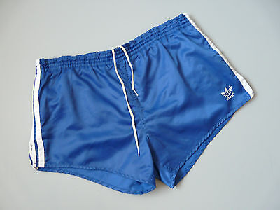 Vintage Adidas 80's Shiny Nylon Gym Running Shorts West Germany Sz Medium D6