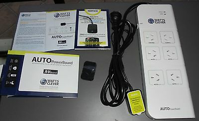 Watts Clever Auto powerboard automatic energy saving powerboard + surge protect