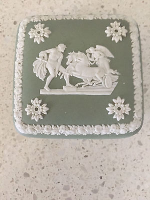 Sage Green Wedgwood Made in England Trinket Box Functional CollectableDecorative