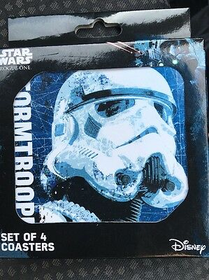 STAR WARS Rogue One SET OF 4 COASTERS (Disney)