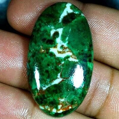 48.20Cts. 100% NATURAL GREEN MALACHITE CHRYSOCOLLA OVAL CABOCHON FINE GEMSTONES