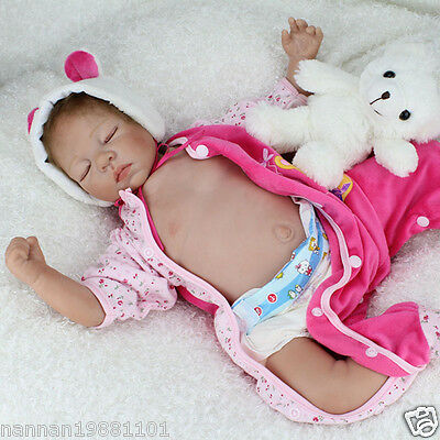 "Lifelike 22"" Reborn Newbron doll Realistic Silicone Sleeping baby Child gifts"