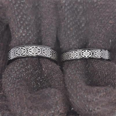 Black Tungsten His & Hers Engagement Wedding Band Ring Sets Celtic Dragon