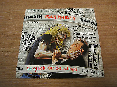 """iron maiden be quick or be dead    original 1992 uk issue vinyl 7"""" single  mint-"""
