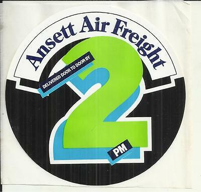 VINTAGE ANSETT AIRLINES AIR FREIGHT DOOR TO DOOR by 2PM STICKER