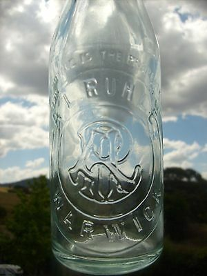 A L Ruhle Warwick QLD Crown Seal Bottle