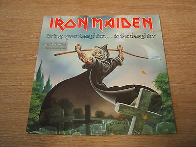 """iron maiden bring your daughter to the slaughter uk issue vinyl 7"""" single etched"""