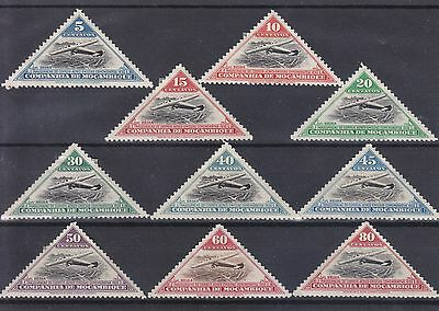 Mozambique Company 1936 Set Of 10 Stamps Mint Hinged