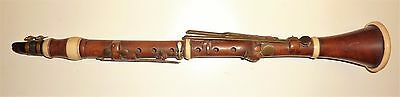 Beautiful Antique early 19th cent. Boxwood Key London Charing Cross Clarinet