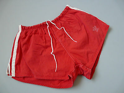 Vintage Adidas 80's Cotton Gym Running Shorts Made In West Germany Sz 5 Small