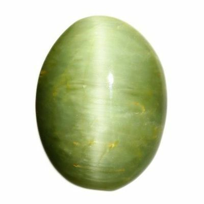 """8.570 Cts"""" VERY VERY RARE NATURAL RARE WOW GREEN QUARTZ CAT'S EYE OVAL CAB  !!!"""