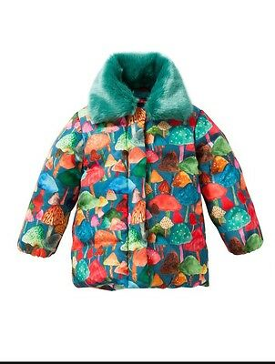 Oilily Choi Coat All-Over Funghi Forest BNWT 4 Years