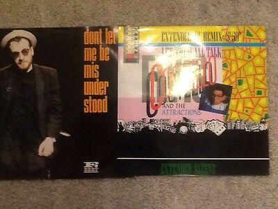 "Elvis Costello 12"" Singles X2 Don't Let Me Be Misunderstood / Let Them All"