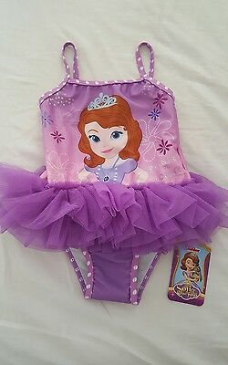 BNWT Baby Girl Sofia the First Swimsuit from Mothercare 12-18 months