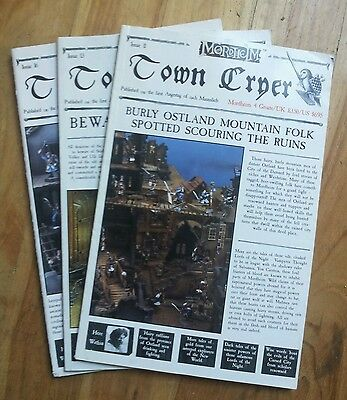 Town Cryer Issues 11, 13 and 16 Mordheim Warhammer